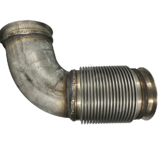 Exhaust flexible truck bellow bend pipe for exhaust system