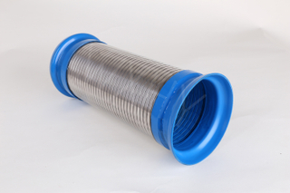 Blue head Flexible interlock Pipe with Flange end for truck exhaust