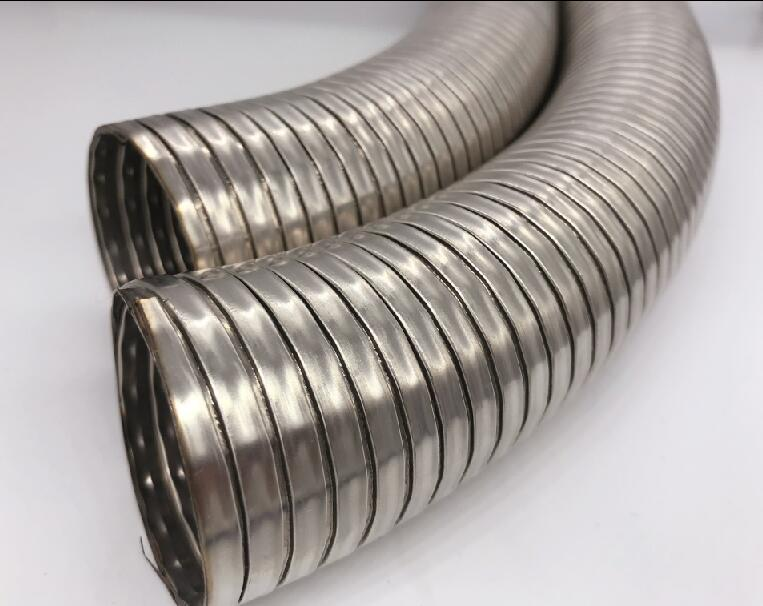 Stainless steel water supply interlocked metal hose under sink water filter