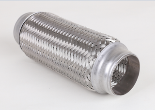 Stainless 3 inch corrugated flexible exhaust pipe with inner braid