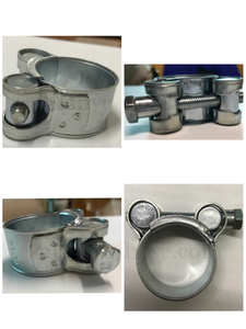 Zinc exhaust clamp